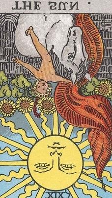 太陽の逆位置の意味【恋愛】相手の気持ちタロット